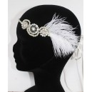 Headband Great Gatsby plumes